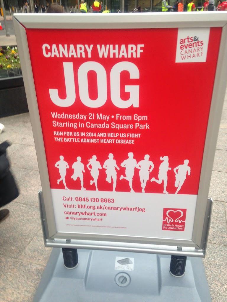 British Heart Foundation Canary Wharf 10K Jog