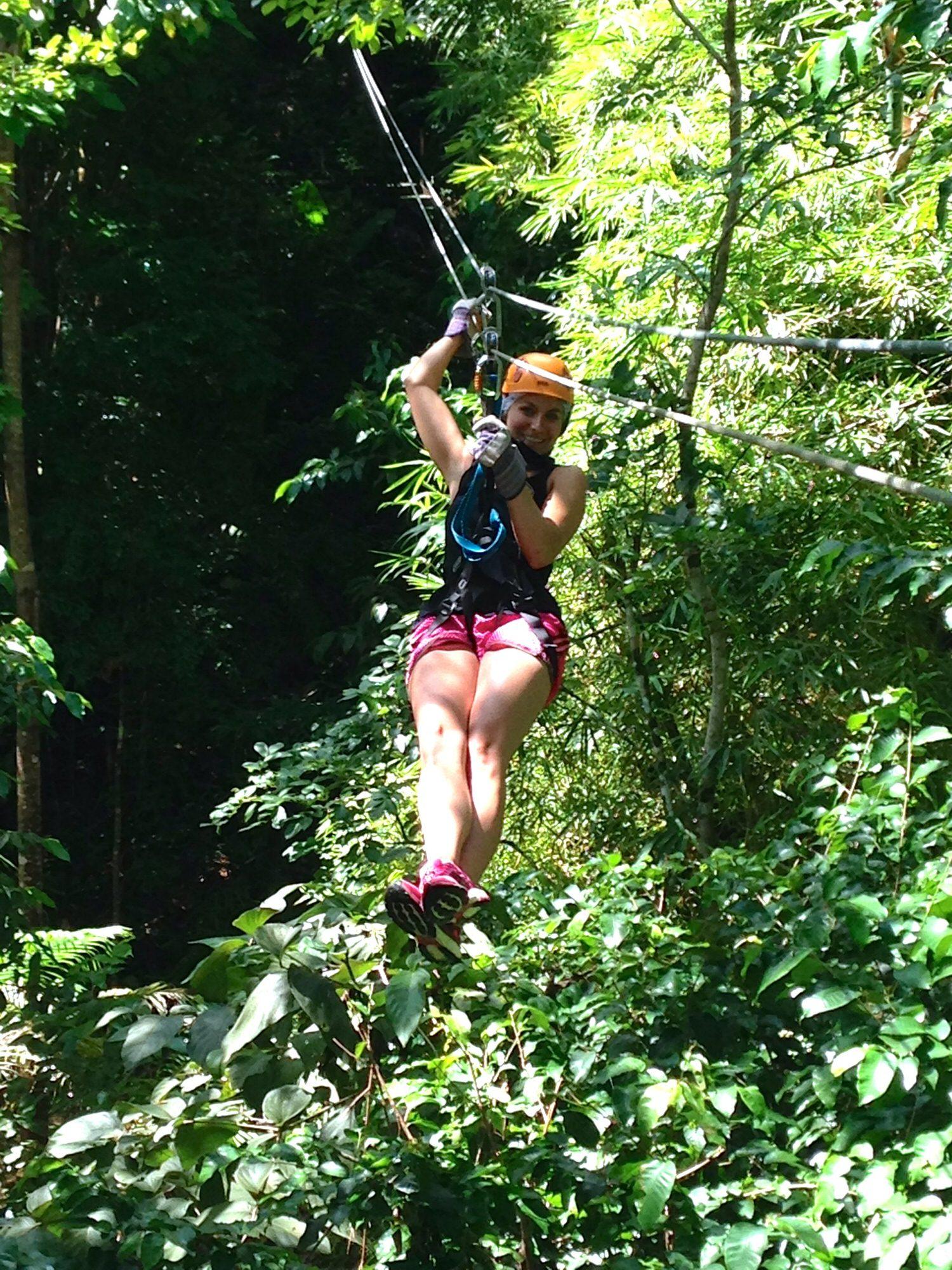 Ziplining in St Lucia