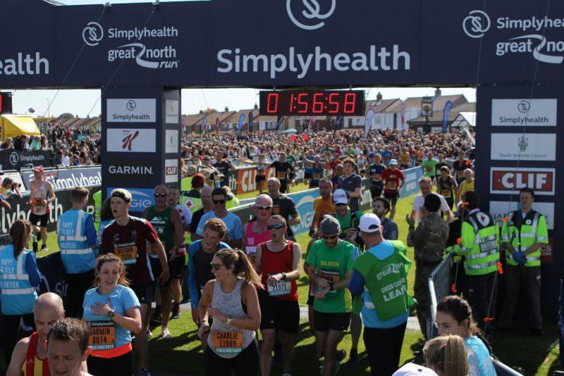 Great North Run race recap therunnerbeans
