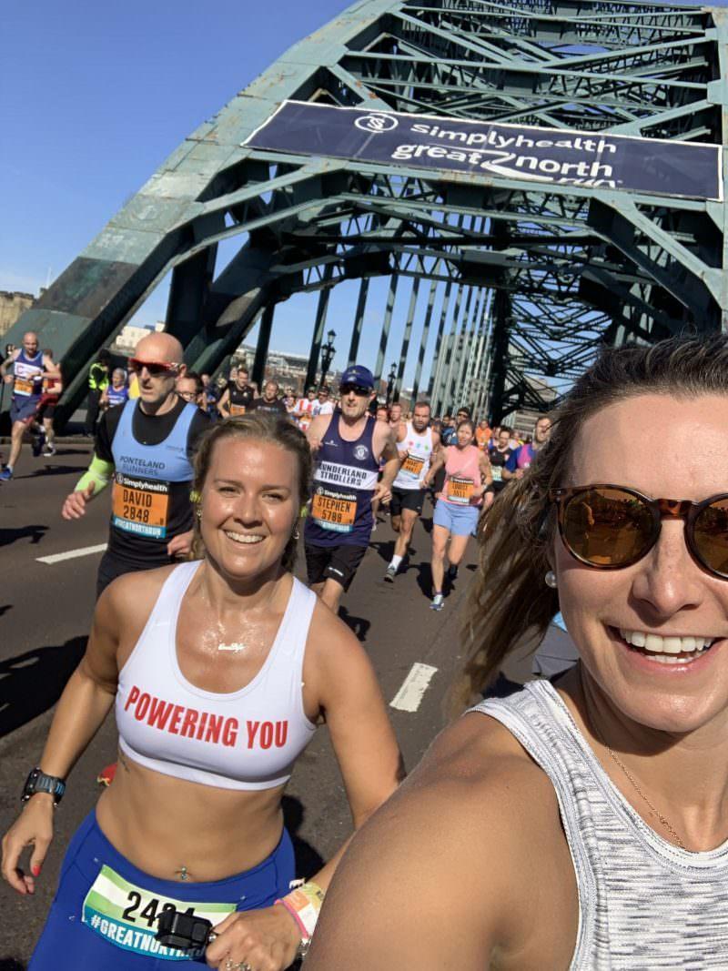 Running over the Tyne Bridge