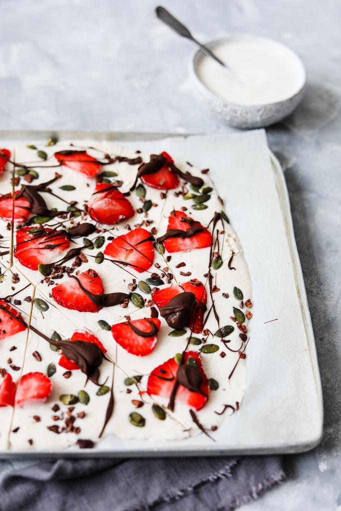 Strawberry & Chocolate Yogurt Bark